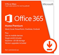 Microsoft Office 365 Home Premium For 5 Devices -1 Year Subscription