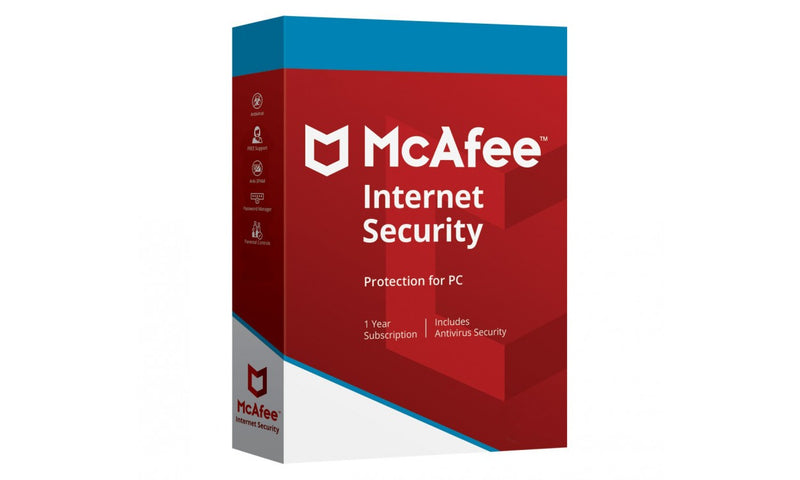 McAfee Internet Security  2020 1 Device 1 Year For Mac/Windows/Tablet