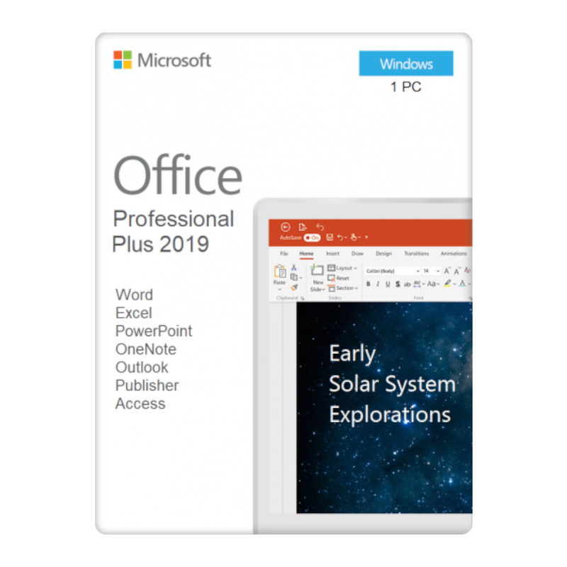 Microsoft Office 2019 Professional Plus For Windows Device