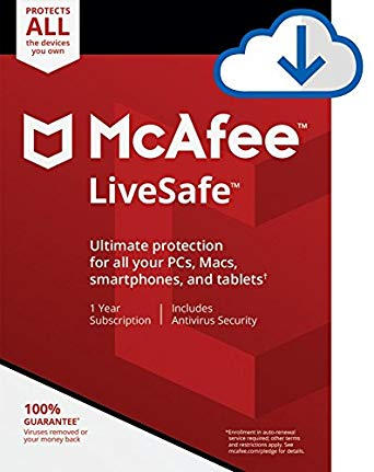 McAfee Livesafe 2021 For  1 Device  1Year For PC Windows /MAC / Tablet
