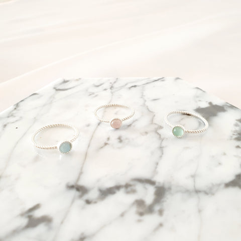 Sterling Silver Rings - January