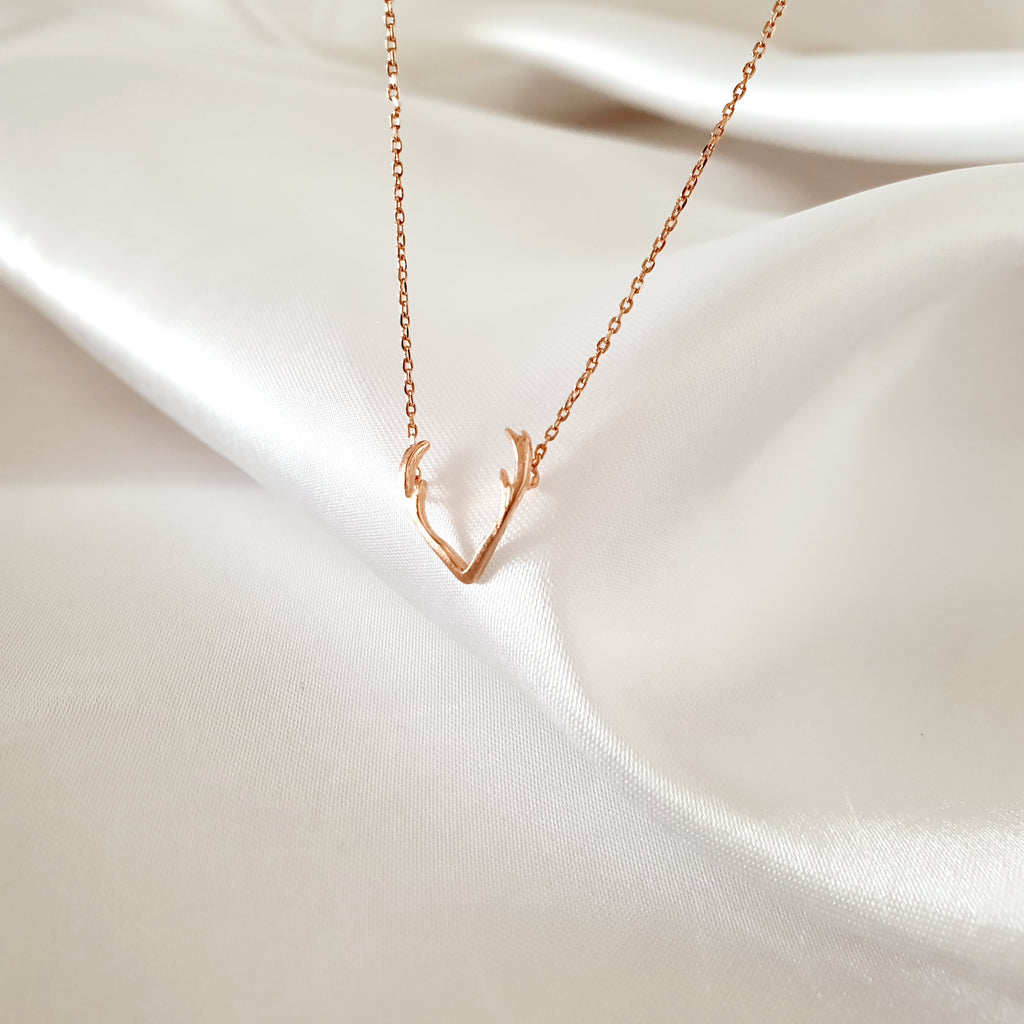 Antlers Necklace Rose gold