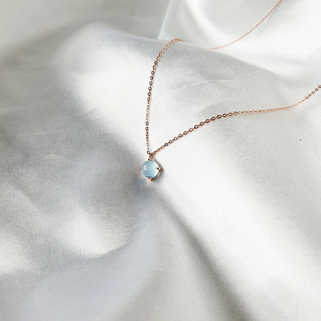 Orb Calcedonia Necklace Rose gold
