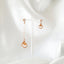Mickey Pearl Unbalanced Earrings Rose gold