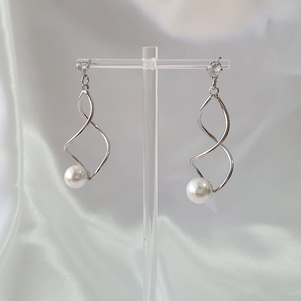 Whirlpool Earrings Silver
