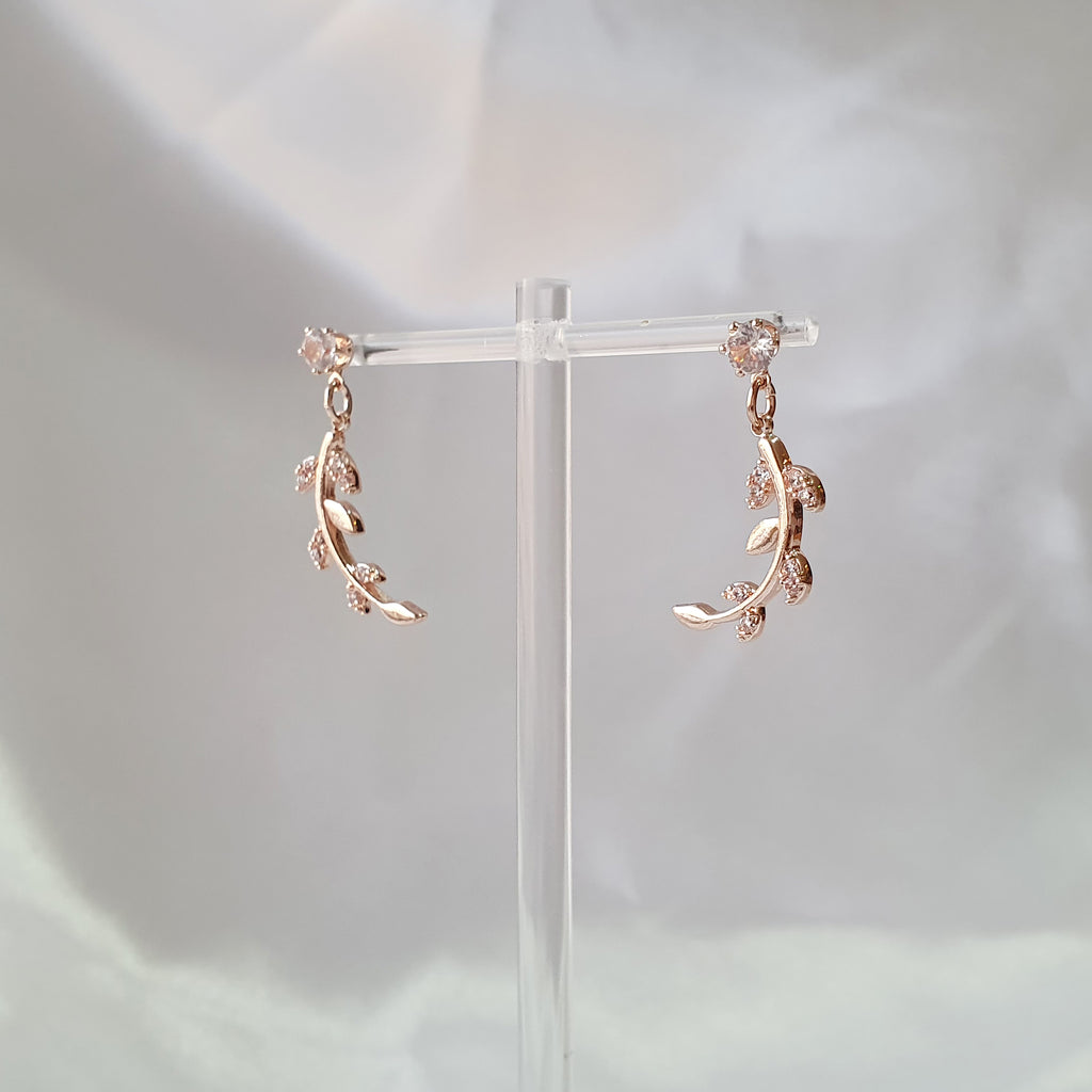 Laurel Earrings Rose gold
