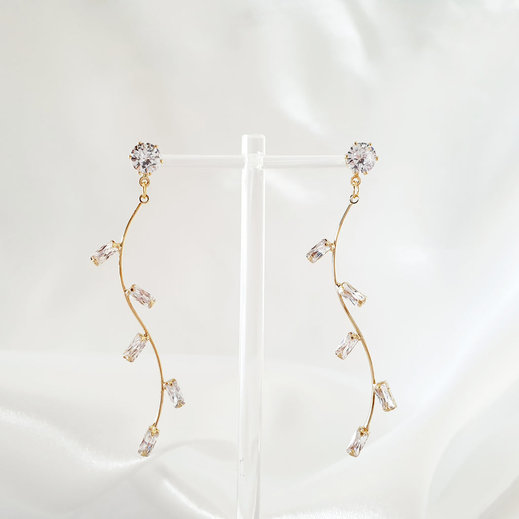 Forest Earrings Gold