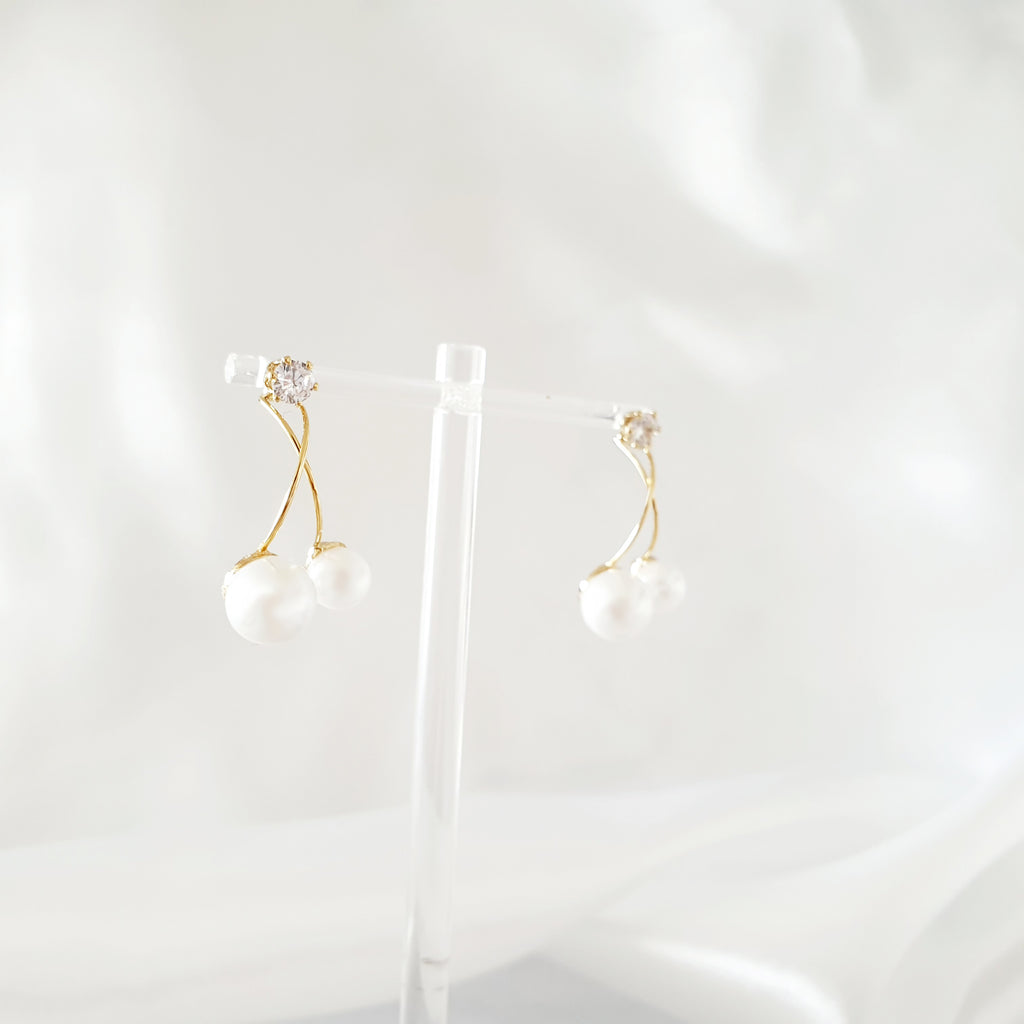 Cherry Earrings Gold