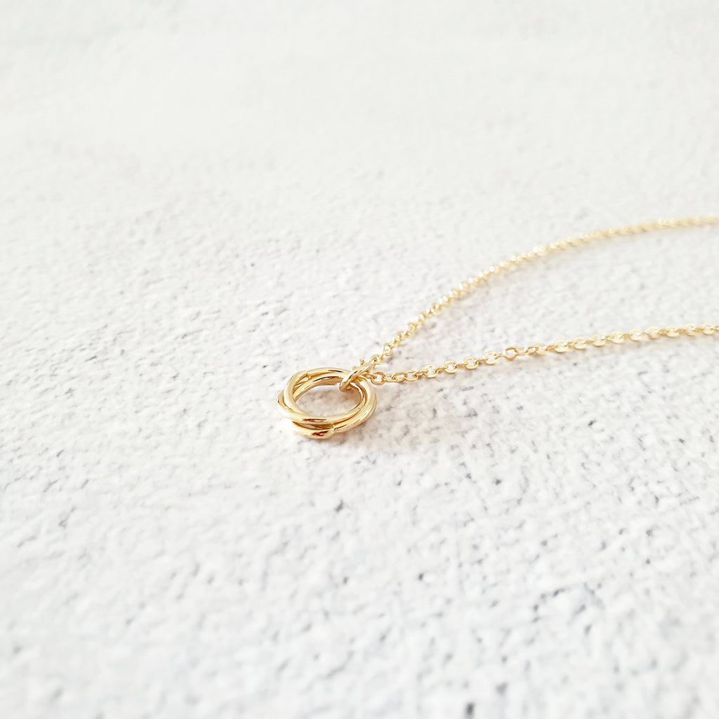 Hoop Necklace Gold