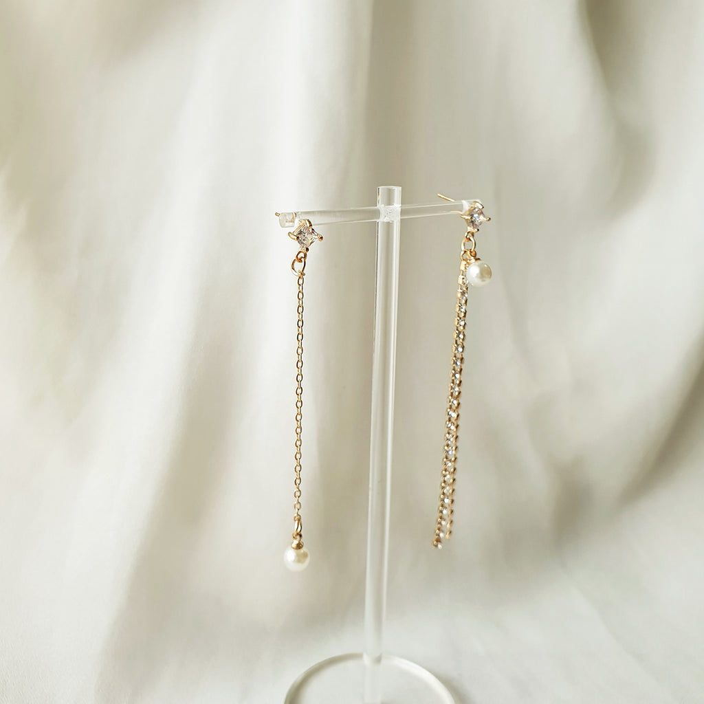 Mimi Pearl Earrings Gold