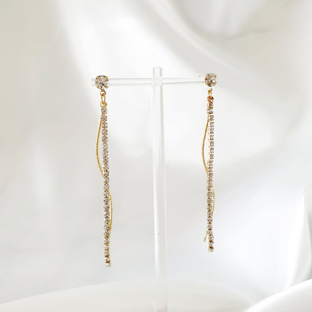 Blossom drop Earrings Rose gold