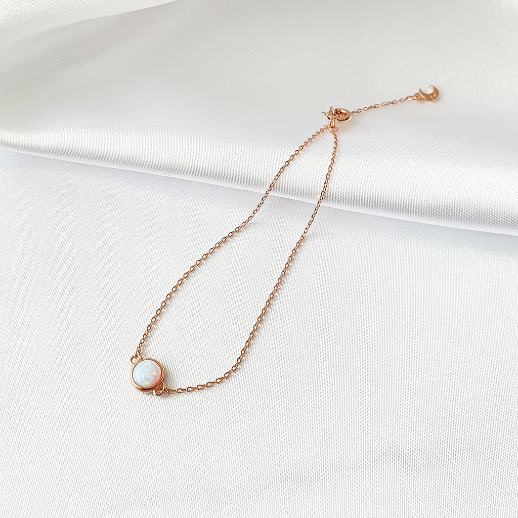 Point Opal Bracelet Rose gold