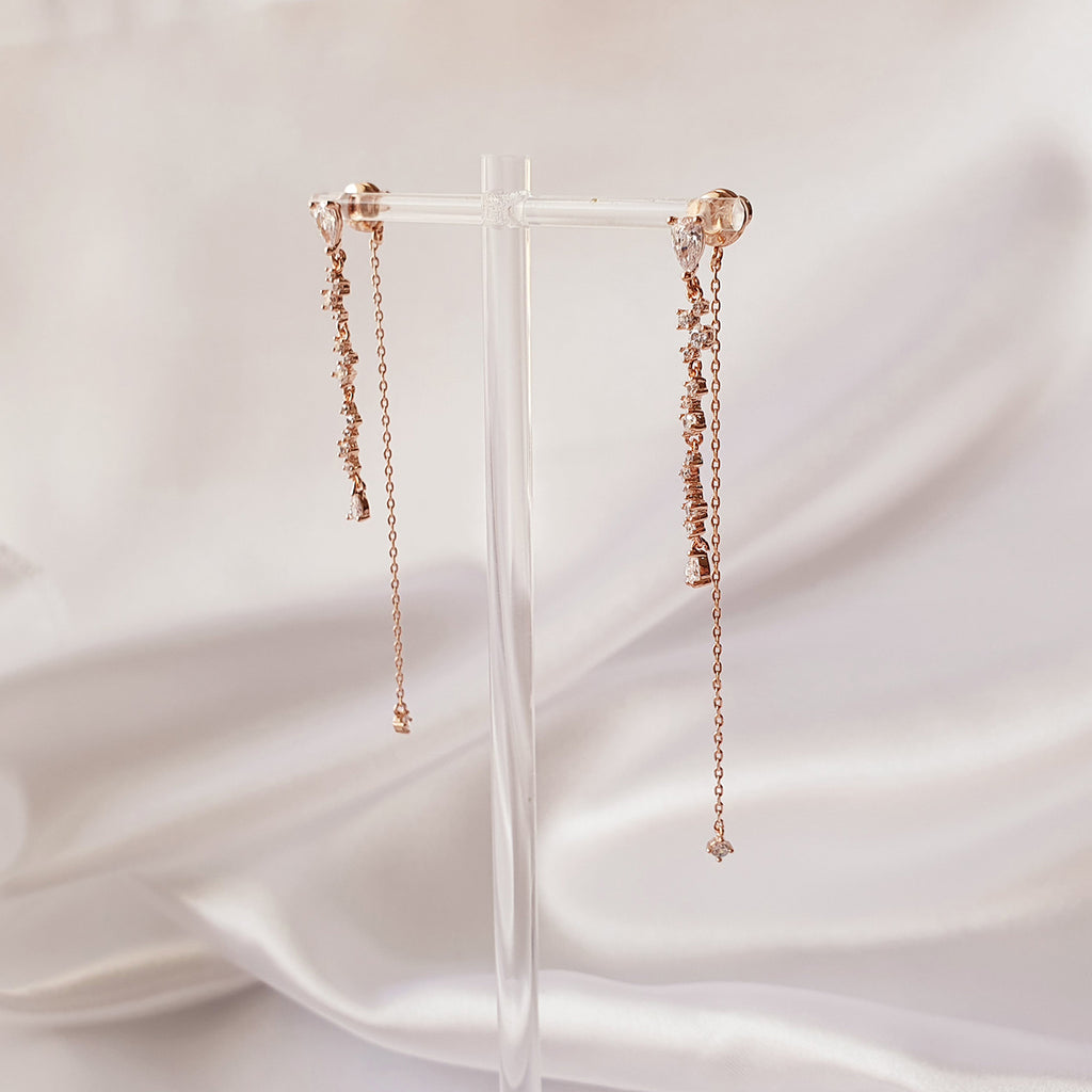 Sky drop Earrings Rose gold