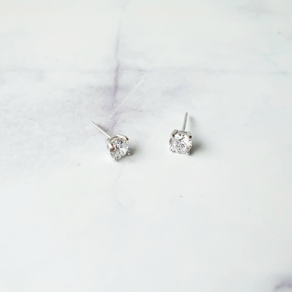 Four sided Earrings Silver