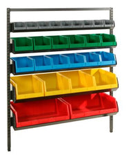 Van Kit 3 consists 1 van frame of 5 levels of different size bins stored on the Bintec van frame system.