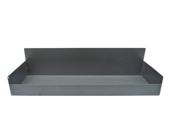 The tradesman tray for storing your books safely for the journey, grey, high back.