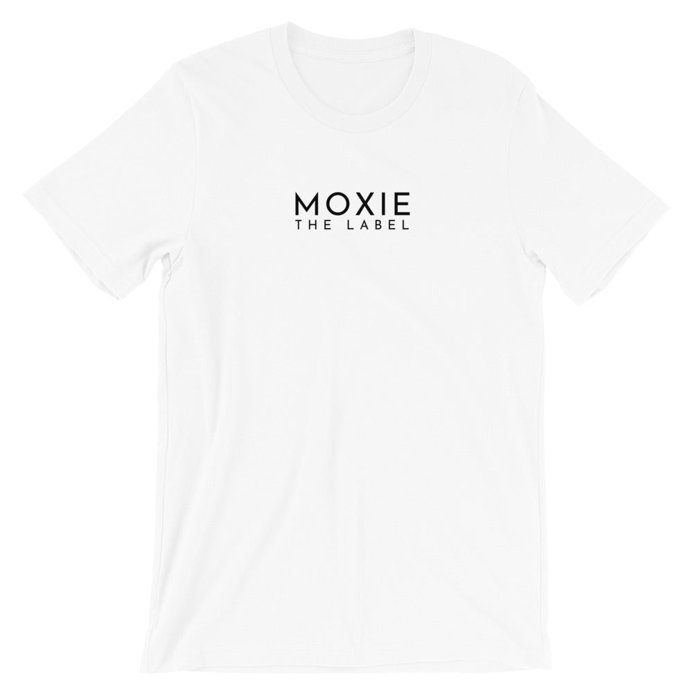 White basic tee. Shop Moxie The Label for empowering tees with powerful and sassy statements. Slow fashion and sweatshop free. Wear it for the perfect oversized t-shirt outfit, tucked in for a bit of prep, or tied up for the cropped look.
