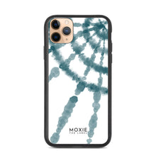 Load image into Gallery viewer, Teal Tie Dye Spiral - Biodegradable phone case