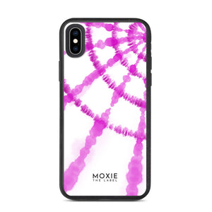 Pink Tie Dye Spiral - Biodegradable phone case
