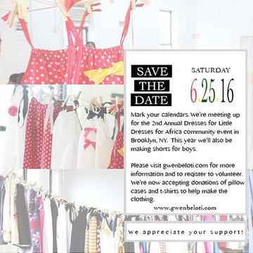 JOIN US IN MAKING LITTLE DRESSES!