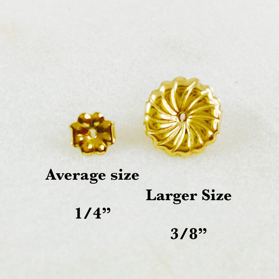 Large Gold Earring Backs