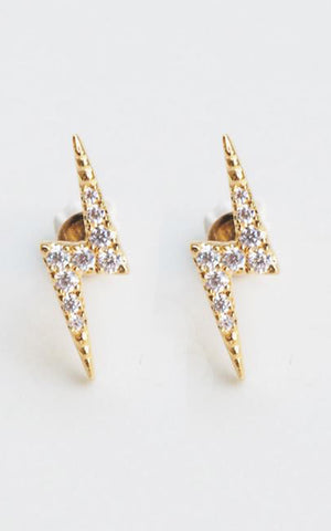 Lightening Bolt Studs CZ