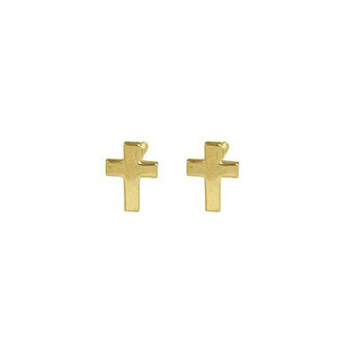 Gold Cross Stud