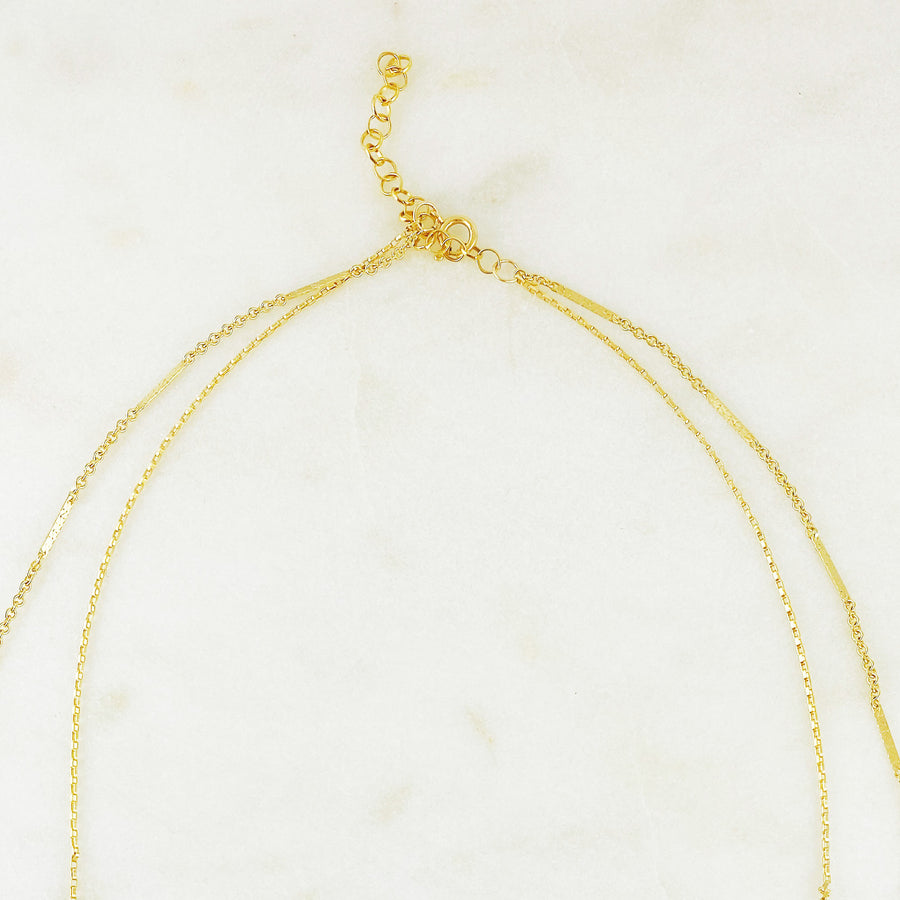 Double Chain Initial Necklace