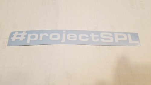 #projectSPL Decal
