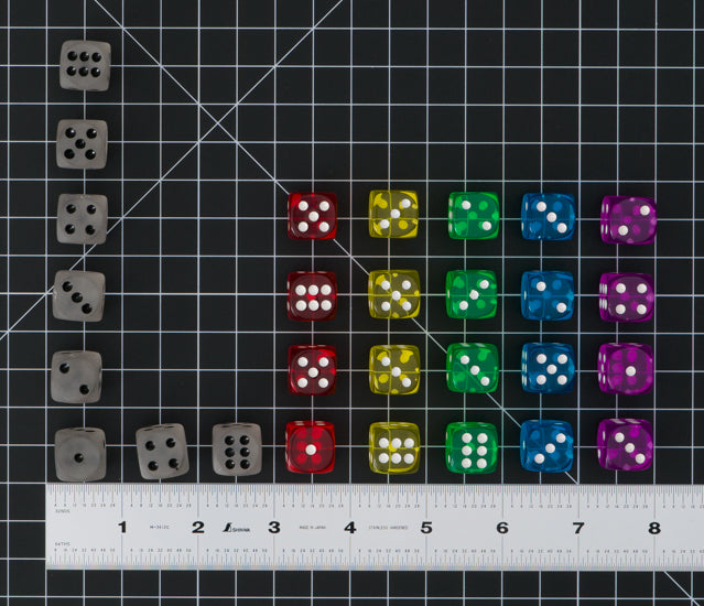 Dice, First Player token, and Production!