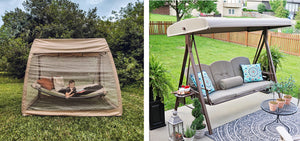 Abba Patio's Hanging Swing Hammock with Mosquito Net