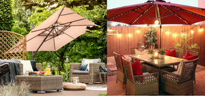 Brighten up Your Patio with Abba Patio's Solar Umbrellas