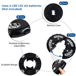 7-1/2 ft Stripped Market Umbrella