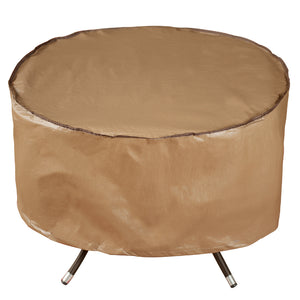 Outdoor Patio Round Fire Pit Cover/Table Cover, 40-inch, Brown