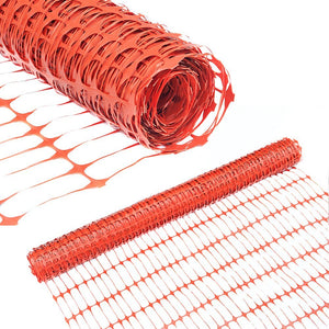 Abba Patio Guardian Safety Netting, Snow Fencing, Recyclable Plastic Barrier, Orange, 4 X 100' Feet