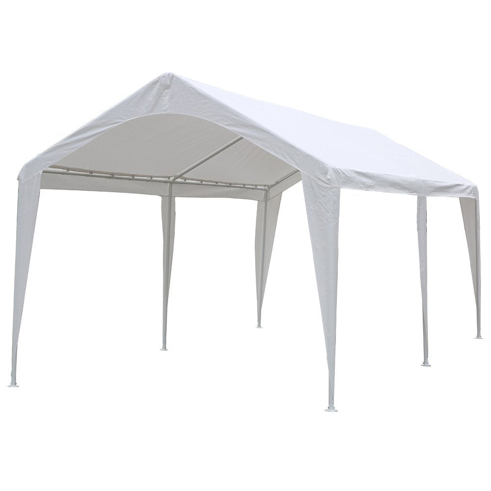 abbapatio.com - Abba Patio Cover Replacement For 10 X 20-Feet Outdoor Carport With 6 Steel Legs, White (Frame Not Include) 69.99 USD