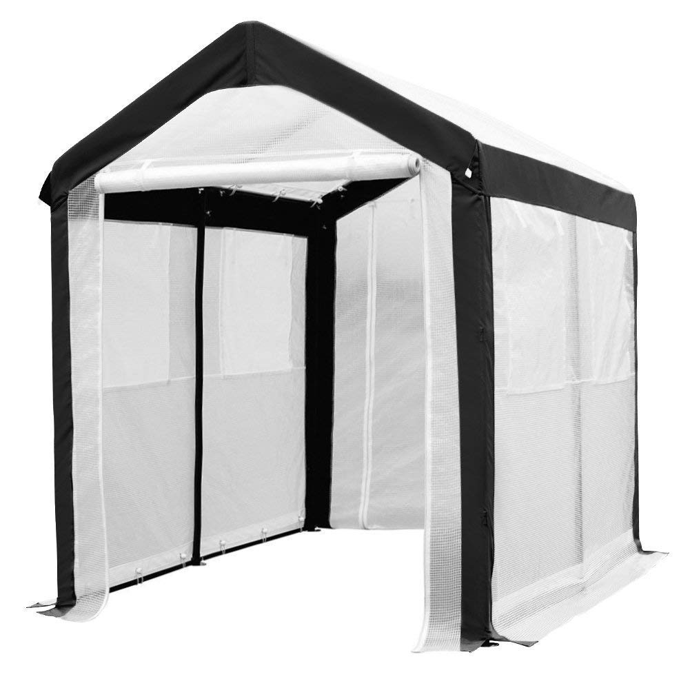 6 x 8 Feet Large Walk in Greenhouse with Windows, White