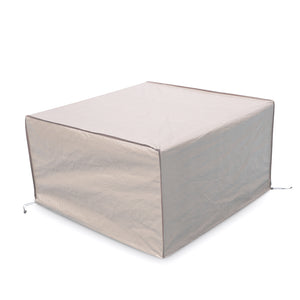 Abba Patio Square Fire Pit/Table Cover Outdoor Cover Waterproof, 43-Inch, Beige