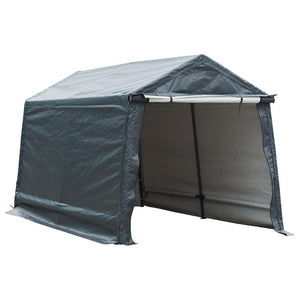 7 x 12- Feet Storage Shelter Outdoor Shed Heavy Duty Canopy, Grey