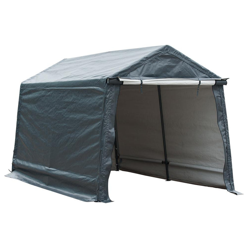 Abba Patio 7 x 12- Feet Storage Shelter Canopy, Grey