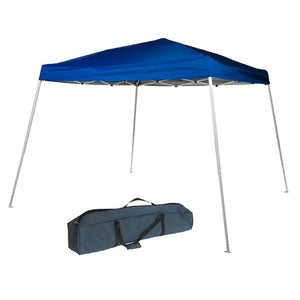10 x 10-Feet Slant Leg Instant Easy Pop Up Folding Canopy with Carry Bag, Blue