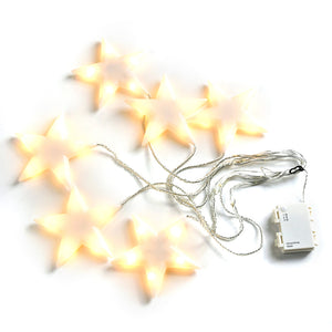 Star String Lights, 59 inch x 11 inch 30 LEDs Battery Powered Decorative Fairy Lights