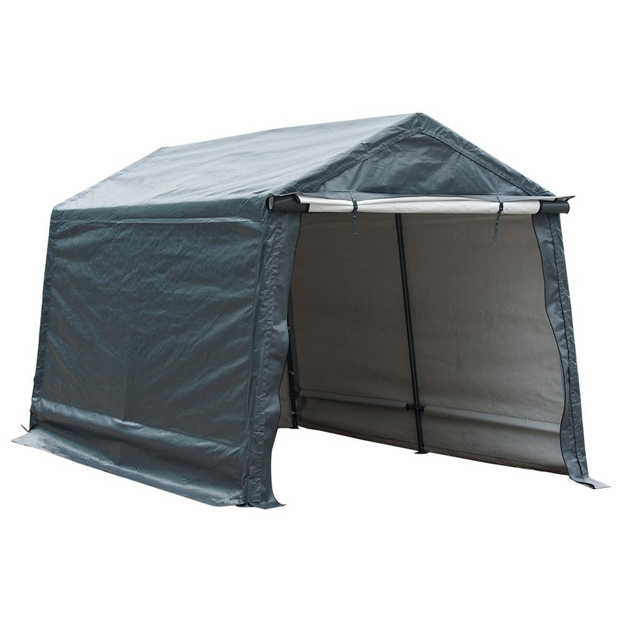 8 x 14 Feet Storage Shelter Outdoor Shed Heavy Duty Canopy, Grey
