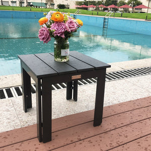 "Side Table Recycle Wood Plastic Composite End Table, 18""W x 18""D x 16.5""H"