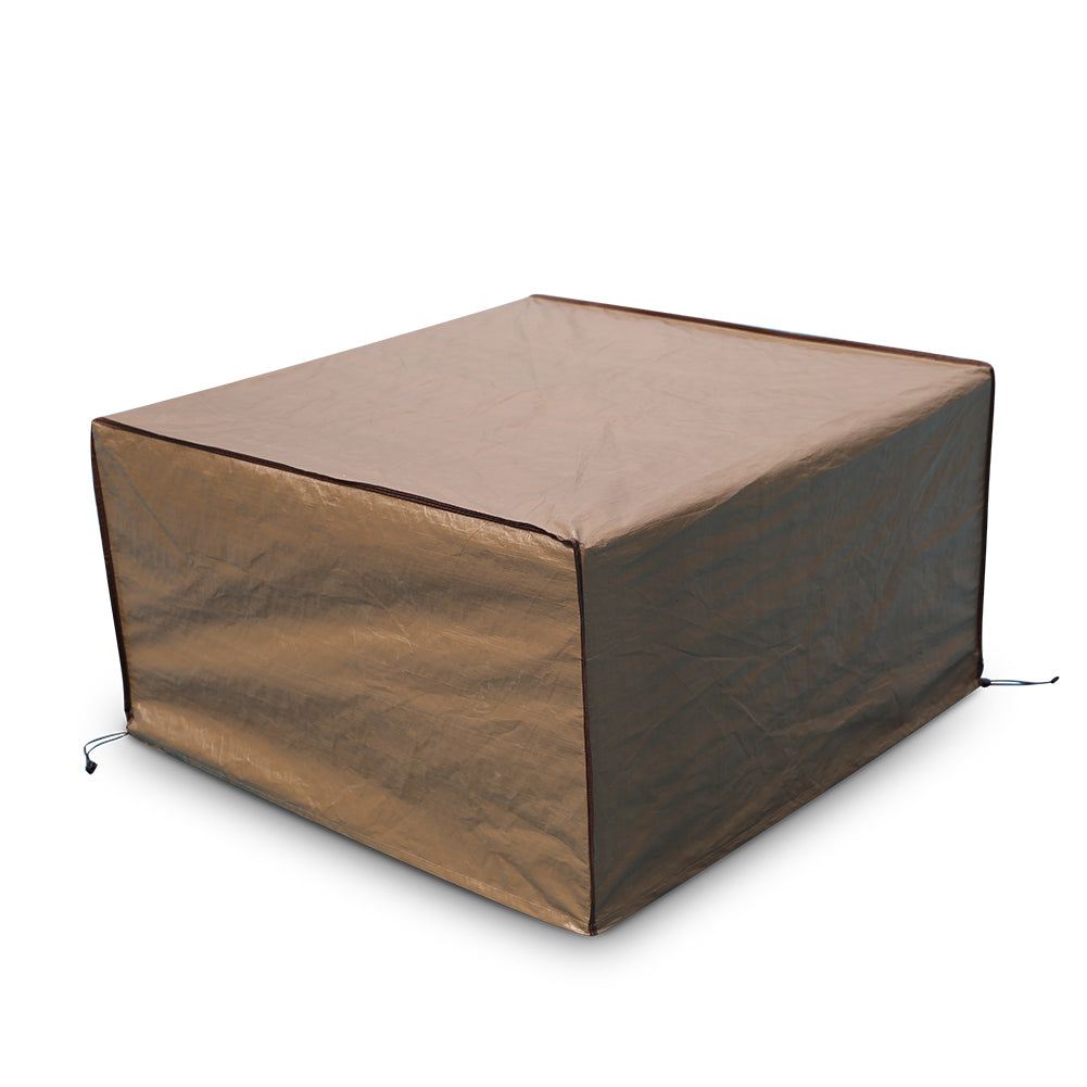 Amazing Square Fire Pit Table Cover Outdoor Cover Waterproof 43 Inch Brown Theyellowbook Wood Chair Design Ideas Theyellowbookinfo