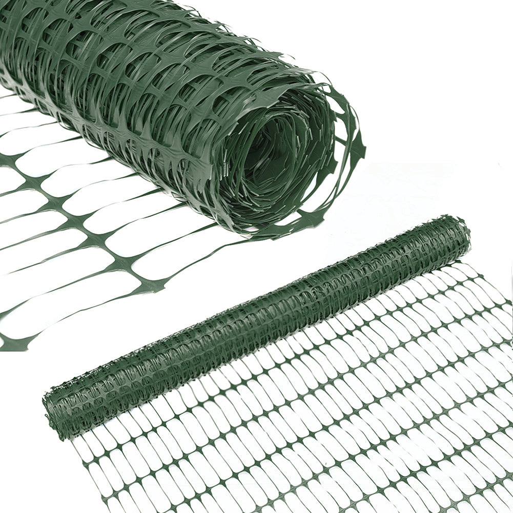Abba Patio Guardian Safety Netting, Snow Fencing, Recyclable Plastic Barrier, Dark Green, 4 X 100' Feet