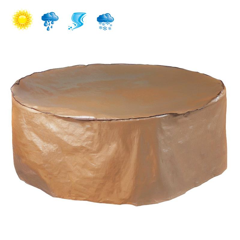 abbapatio.com - Waterproof Round Table And Chair Set Cover Porch Furniture Cover 25.99 USD