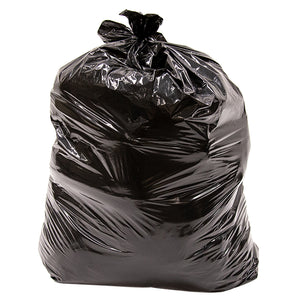 42 Gallon Outdoor Lawn & Leaf Trash Garbage Bag, Handle Ties, Black, Qty: 50 count (2 /25 bag rolls per box)