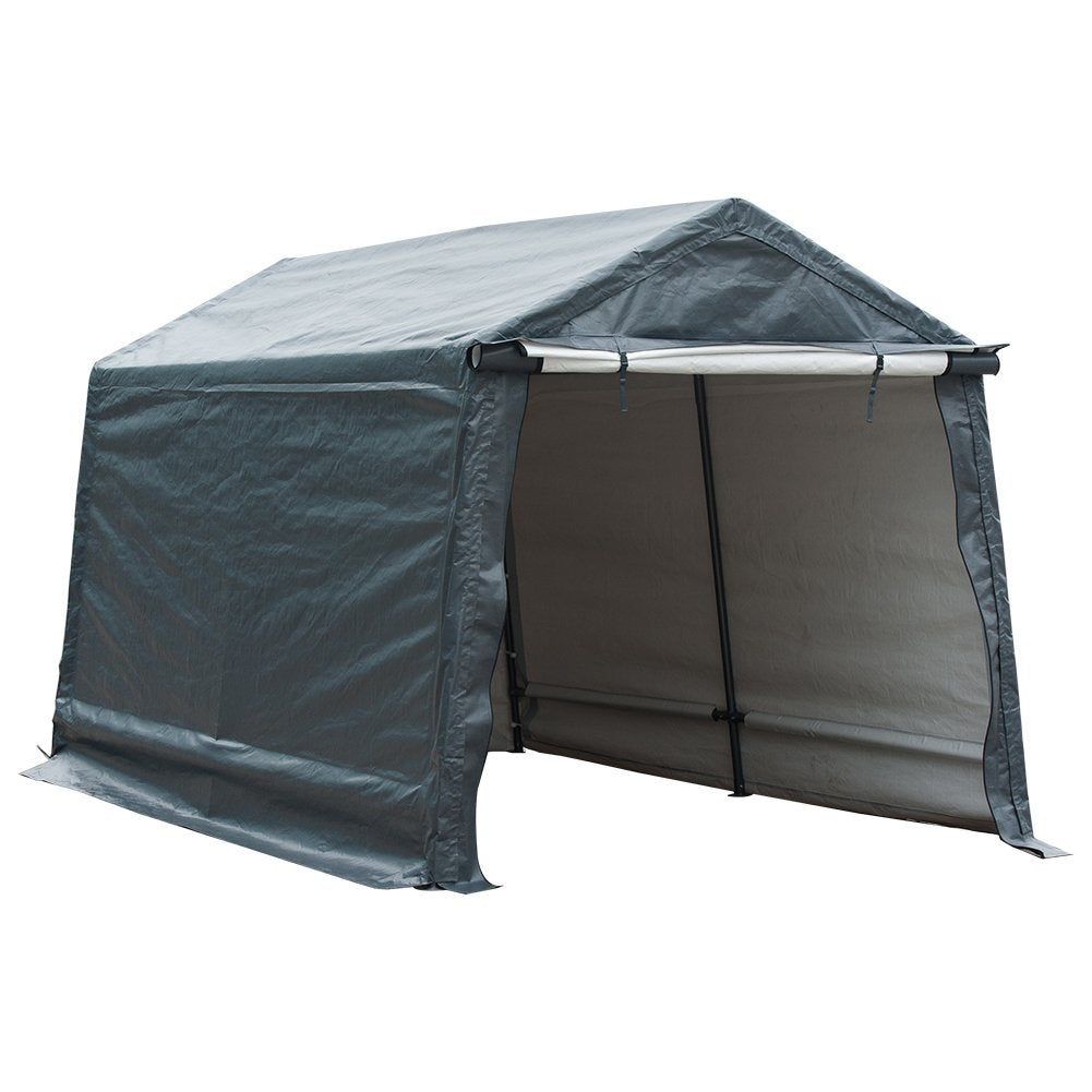 abbapatio.com - Abba Patio Replacement End Panel for 7 x 12 Feet Storage Shelter, Grey (Only End Panel, Frame, Top Cover and Sidewall not Include) 34.99 USD