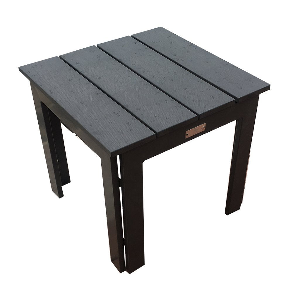 Side Table Recycle Wood Plastic Composite End Table, 18inchW X 18inchD X 16.5inchH